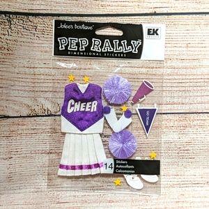 Cheer Scrapbooking/Craft Stickers NWT